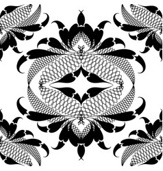 ornamental black and white arabesque seamless vector image