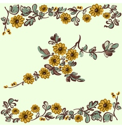 pattern floral yellow flower vector image