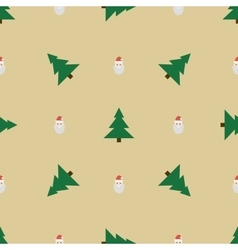 Pattern with Santa and Christmas trees vector