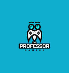 professor gaming logo vector image