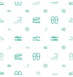 Sandals icons pattern seamless white background vector