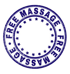 Scratched textured free massage round stamp seal vector