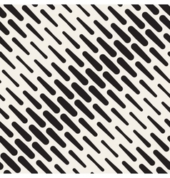 Seamless Black and White Diagonal Rounded vector image