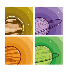 Set of milkyway planets vector