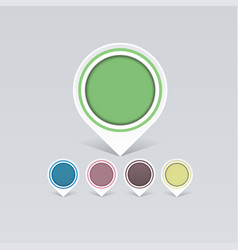 set old colorful markers to your business ideas vector image