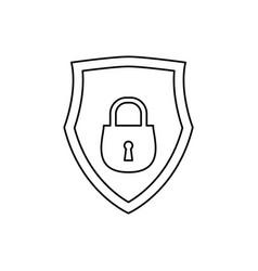 shield security abstract padlock vector image