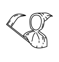 sickle icon doodle hand drawn or black outline vector image