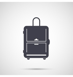 Simple design icon travel bag vector image