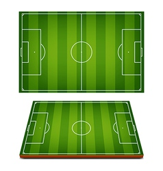 Soccer Fields Striped Grass vector