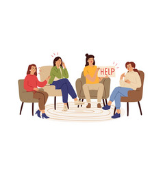 support group depression supports therapy vector image