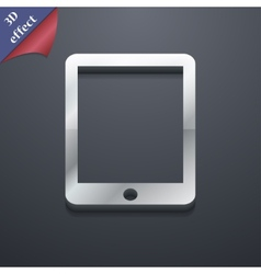 Tablet icon symbol 3D style Trendy modern design vector image