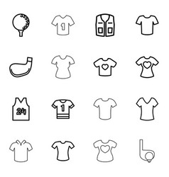 tee icons vector image