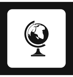 Terrestrial globe icon simple style vector image