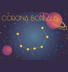 The constellation corona borealis vector