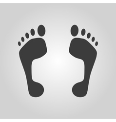 The footprint icon foot symbol Flat vector image