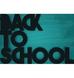 Time to school Retro poster Black retro phrase vector