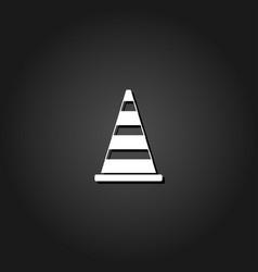 traffic cone icon flat vector image