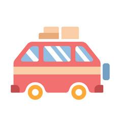 Travel van flat vector