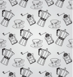 Vintage Hand Drawn Seamless Pattern vector image