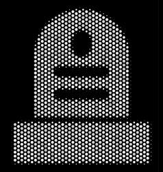 White halftone grave icon vector