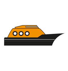 Yellow boat design vector