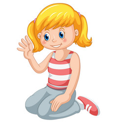 Young smiling blonde girl vector