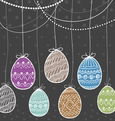 Ornamental Easter eggs vector image vector image