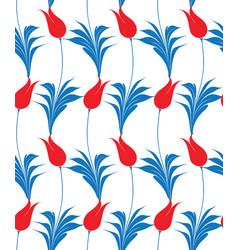 turkish tulip seamles pattern vector image