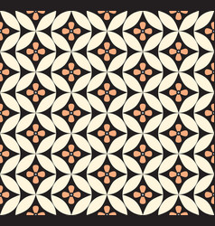 Abstract floral ornament geometric line seamless vector