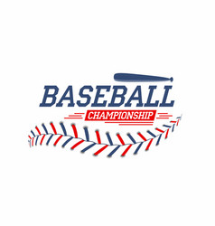 Baseball background baseball ball laces stitches vector