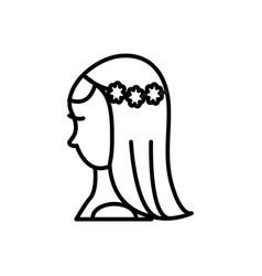 bride line icon sign on vector image vector image