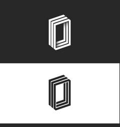letter o logo hipster monogram idea ooo initials vector image