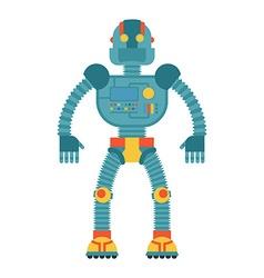 Robot Retro toy Cyborg technological machine vector image