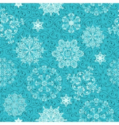 seamless christmas retro winter pattern vector image vector image