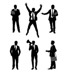 six businessmen set vector image vector image