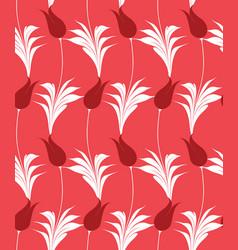 turkish tulip seamless pattern vector image vector image