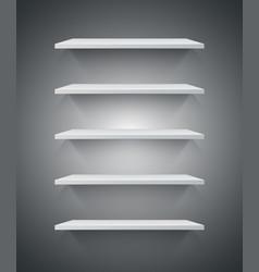 white 3d shelf icon vector image