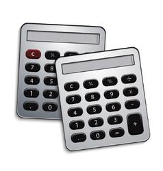 concept modern calculator background vector image