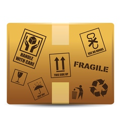 Fragile box delivery vector image
