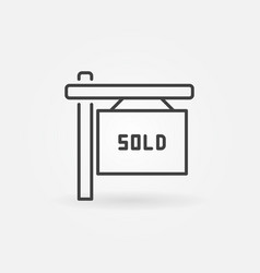 house sold line icon vector image
