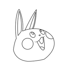 kawaii funny rabbit animal cartoon image vector image
