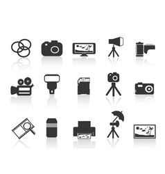 photography element icon vector image vector image