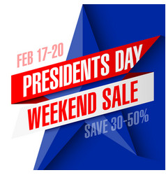 presidents day weekend sale banner vector image