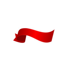 red surprise ribbon isolated icon vector image vector image