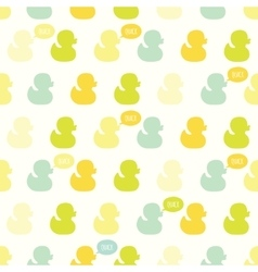Seamless pattern with kiddish baby ducks vector image vector image