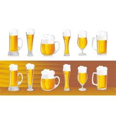 beer mugs vector image vector image