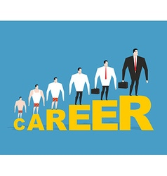 Evolution of office manager in his career Career vector image vector image
