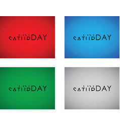 friday to saturday turning text set vector image vector image