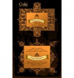 gold decorative frames ancient set vector image vector image