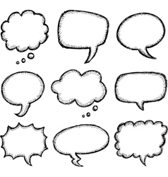 Hand drawn comic speech bubble vector image vector image